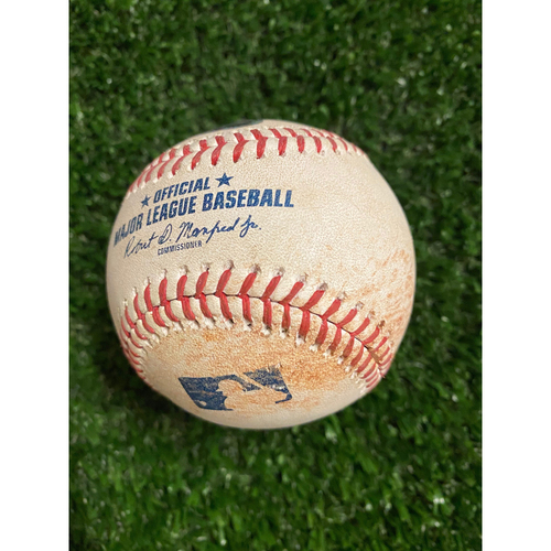 Photo of Miguel Andujar Game Used Hit Single Baseball - August 26, 2020 (Game 2) - Pitcher: Max Fried