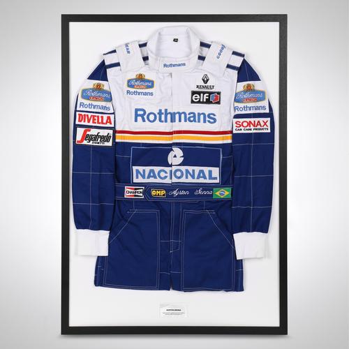 Photo of Ayrton Senna 1994 Framed Replica Race Suit