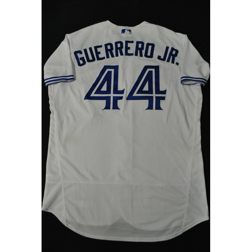 Photo of Hank Aaron Chasing the Dream Foundation: Vladimir Guerrero Jr. 2021 MLB All-Star Workout Day BP-Worn # 44 Jersey