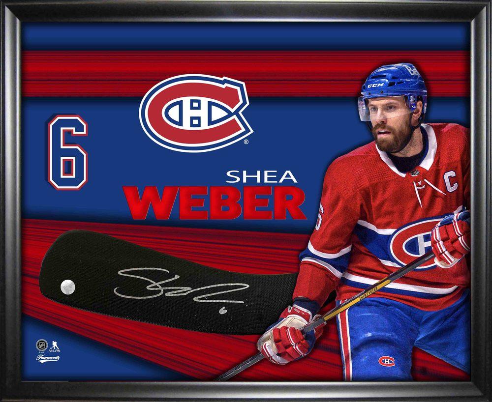 Shea Weber Montreal Canadiens Signed Stickblade Framed PhotoGlass
