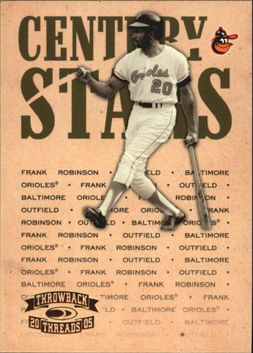 Photo of 2005 Throwback Threads Century Stars #25 Frank Robinson