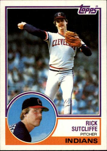 Photo of 1983 Topps #497 Rick Sutcliffe