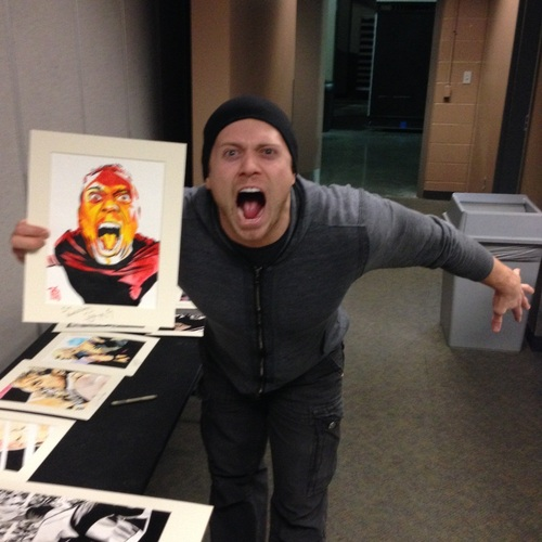 The Miz Signed Painting by Rob Schamberger