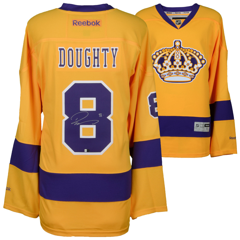 Drew Doughty Los Angeles Kings Autographed Purple and Gold Alternate Reebok Premier Jersey
