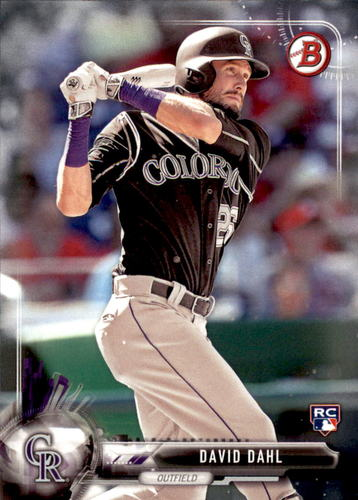 Photo of 2017 Bowman #54 David Dahl Rookie Card
