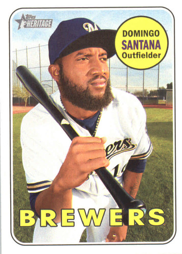Photo of 2018 Topps Heritage #13 Domingo Santana