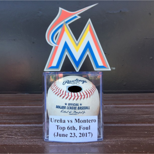 Photo of 2017 Game-Used Baseball: Ureña vs Montero (Top 6th, Foul - June 23, 2017)