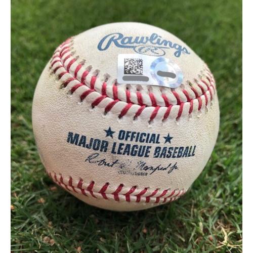 Photo of Game-Used Baseball - Carlos Correa Single  - 4/1/18