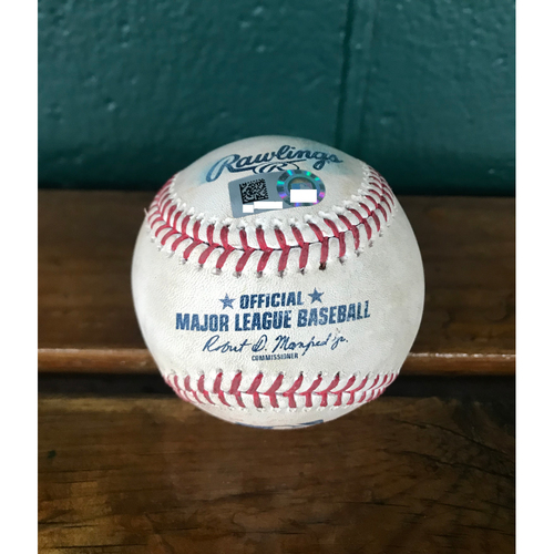 Photo of Cardinals Authentics: Game-Used Baseball Pitched by Jordan Hicks to Daniel Palka, Yoan Moncada, and Time Anderson *Pop Out, Ground out, Ball* *101.9MPH*