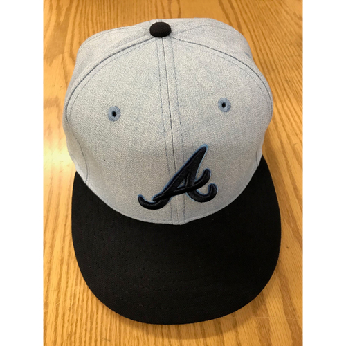 Photo of Ronald Acuna, Jr. Team-Issued 2018 Father's Day Cap - Size 7 1/4
