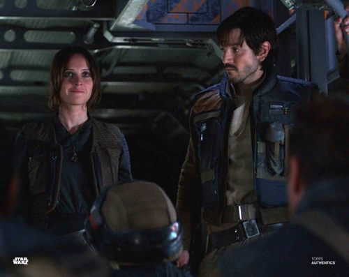 Felicity Jones and Diego Luna as Jyn Erso and Captain Cassian Andor
