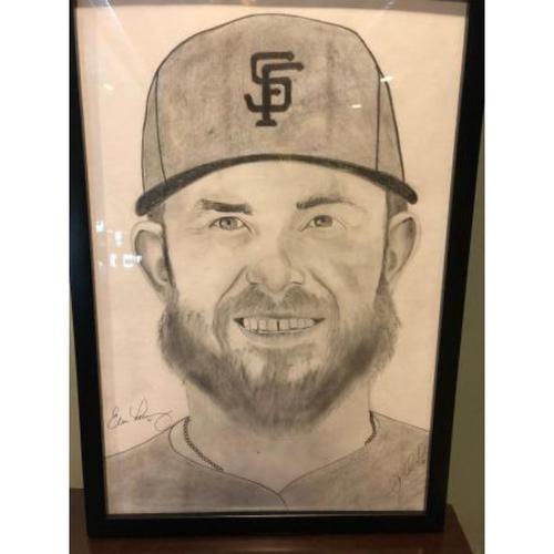 Photo of Giants Community Fund: Evan Longoria Autographed Sketch by Jose Alguacil