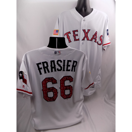 Photo of Game-Used 2018 Stars & Stripes Jersey - Josh Frasier