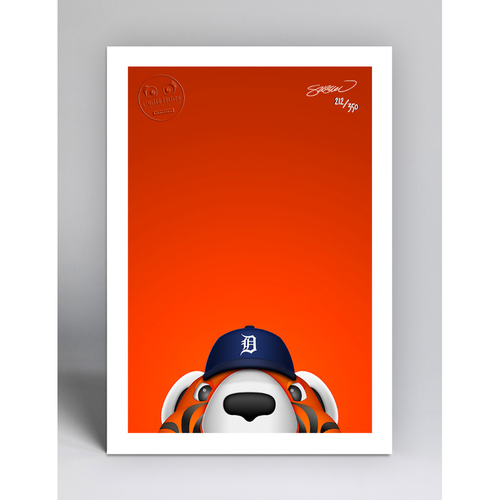 Photo of Paws - Limited Edition Minimalist Mascot Art Print by S. Preston  - Detroit Tigers