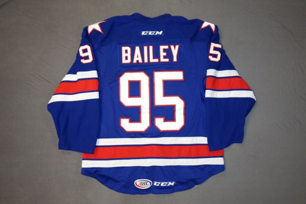 Justin Bailey Game-Worn Rochester Americans Blue Jersey