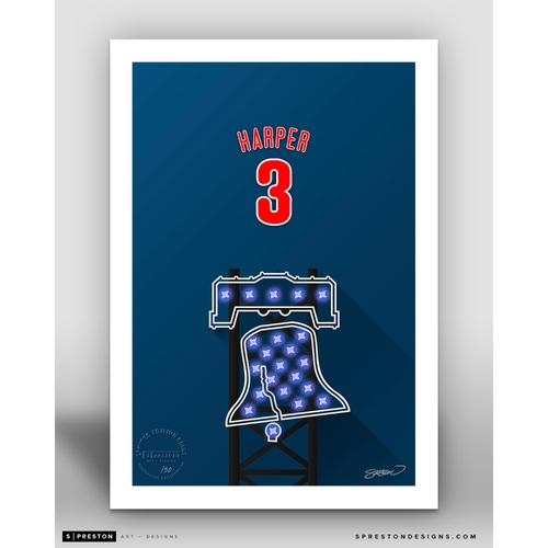 Photo of Minimalist Citizens Bank Park Bryce Harper Player Series Art Print by S. Preston - Limited Edition