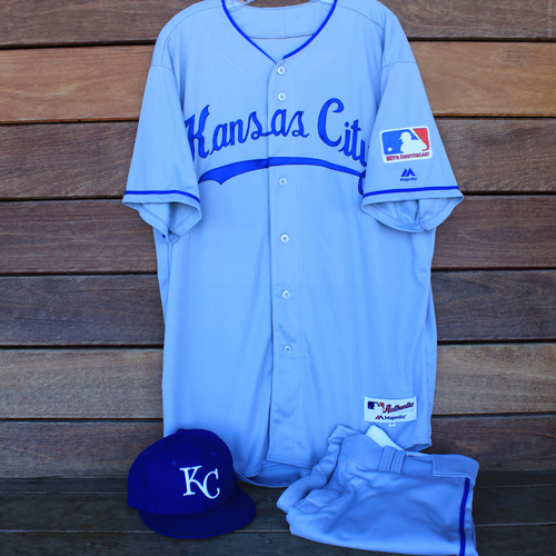 Photo of Game-Used 1969 Throwback Jersey, Pants and Cap: Ned Yost (Jersey Size 50 - KC @ WSH  - 7/6/19)