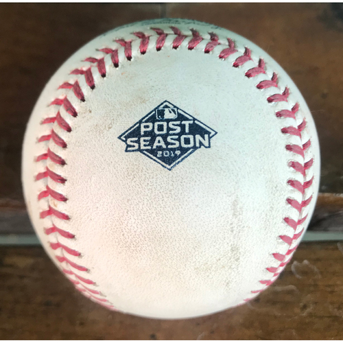 Photo of Cardinals Authentics: Game-Used NLCS Pitched Baseball from Max Scherzer to Kolten Wong *Foul*