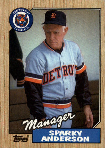 Photo of 1987 Topps #218 Sparky Anderson MG