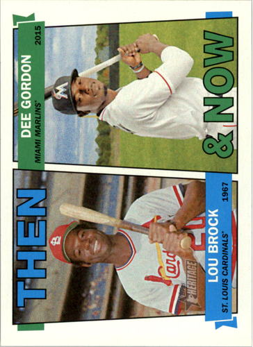 Photo of 2016 Topps Heritage Then and Now #TANBG Lou Brock/Dee Gordon
