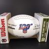 HOF - Bills Bill Polian Signed NFL Auction Exclusive Panel Ball W/ 100 Seasons Logo