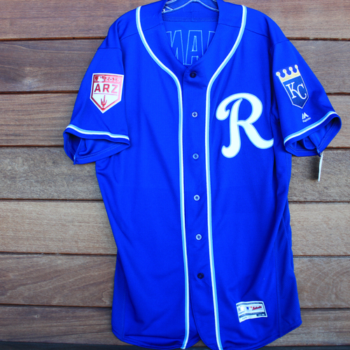 Photo of Game-Used Jersey: Arnaldo Hernandez (Size 48 - KC vs COL - 2/25/19)