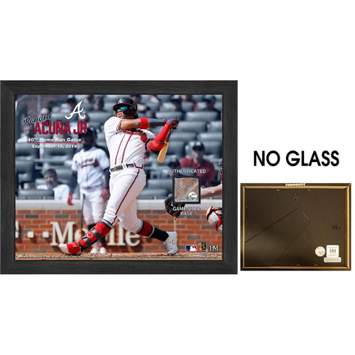 Photo of Ronald Acuna Jr. 40th Home Run Game Used Base Frame