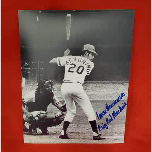 "Photo of Cesar Geronimo Autographed Photo ""Big Red Machine"""