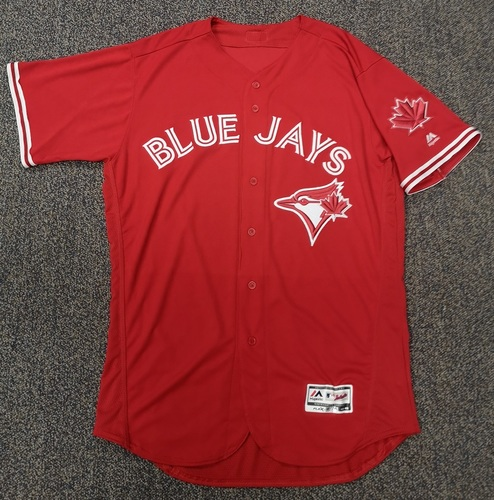 Photo of Authenticated Team Issued Red 2017 Jersey - Features Maple Leaf Patch on Sleeve - - Choose your size!