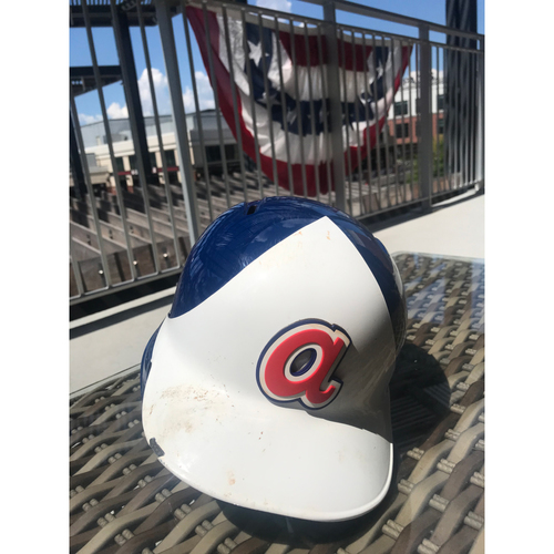 Photo of Ozzie Albies MLB Authenticated Throwback 1974 Game Used Helmet
