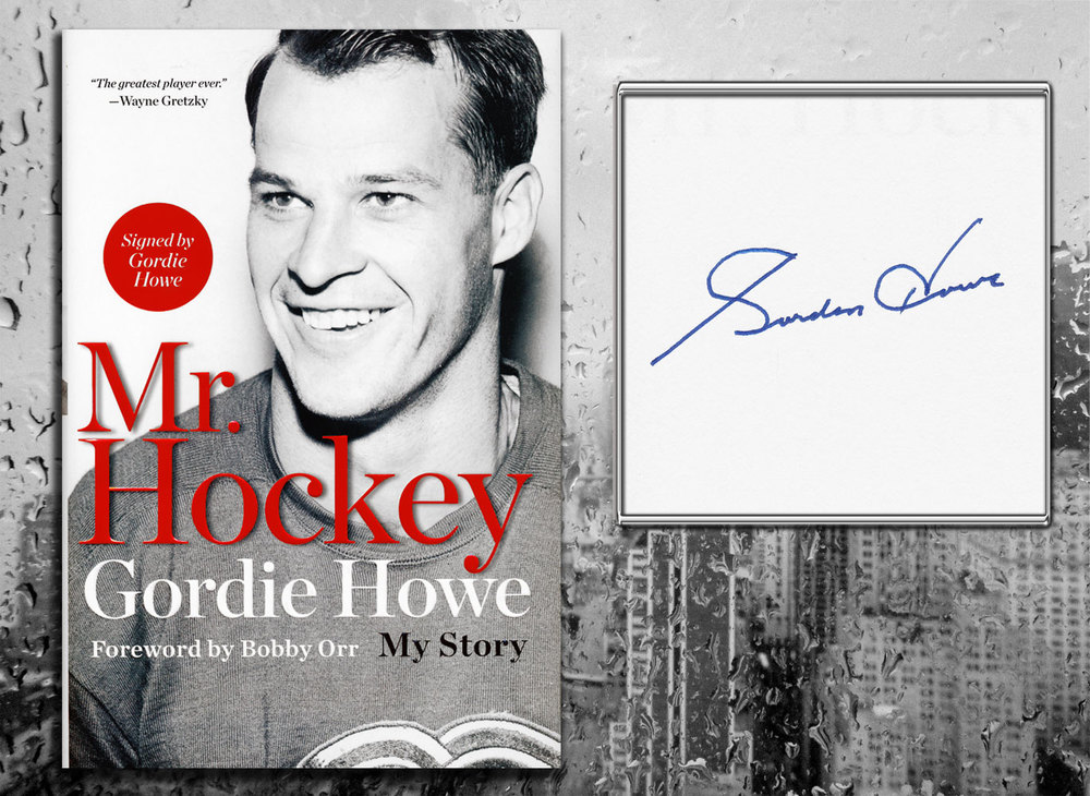 Gordie Howe MR. HOCKEY MY STORY Signed Hardcover Book