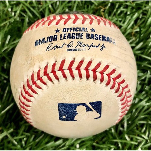 Game Used Baseball: Juan Soto double off Ryan Yarbrough - September 15, 2020 v WSH