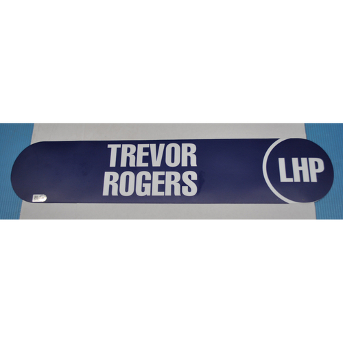 Photo of 2017 MLB Draft Name Plate - Trevor Rodgers - LHP - Pick Number 13 - Miami Marlins