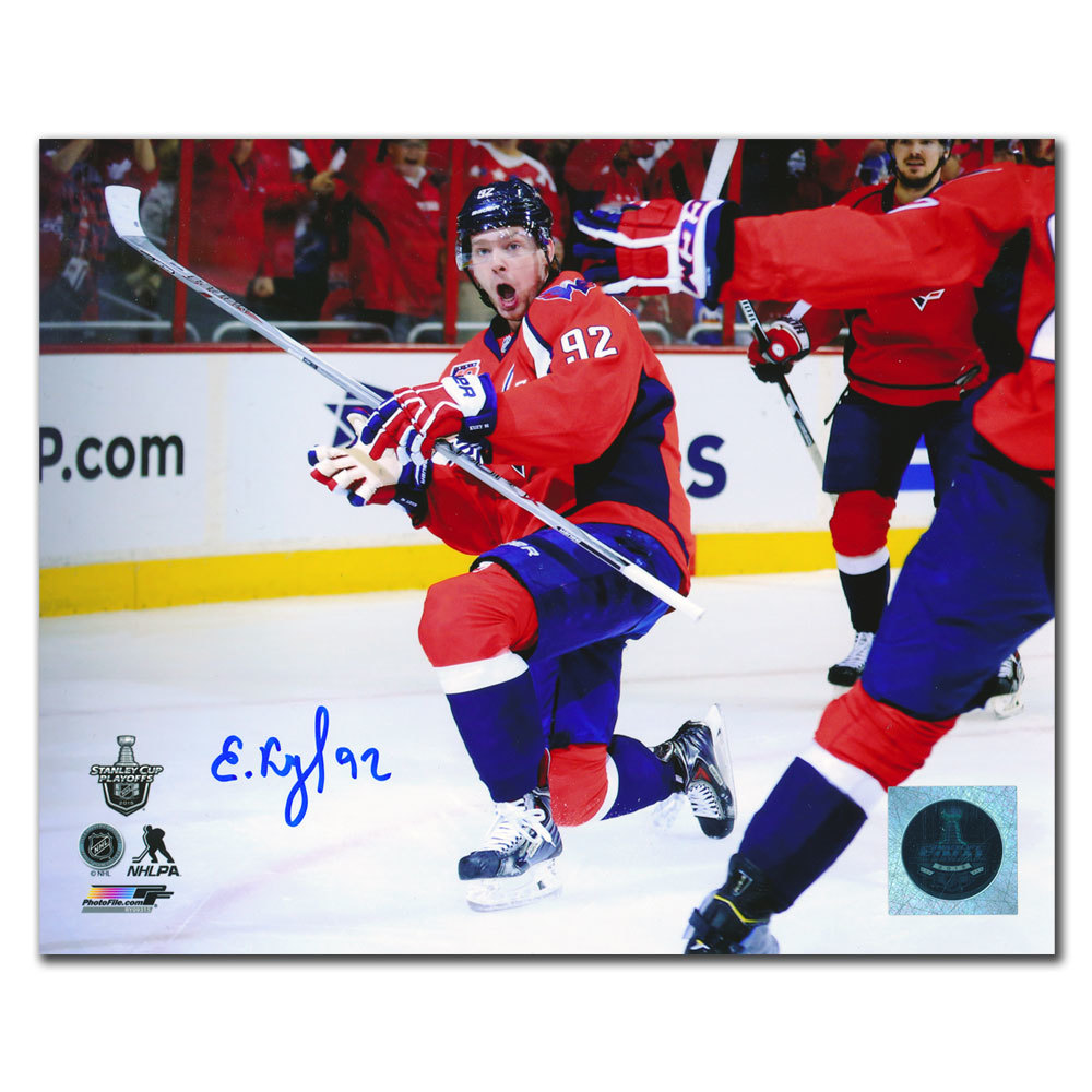 Evgeny Kuznetsov Washington Capitals 2015 Stanley Cup GWG Autographed 8x10