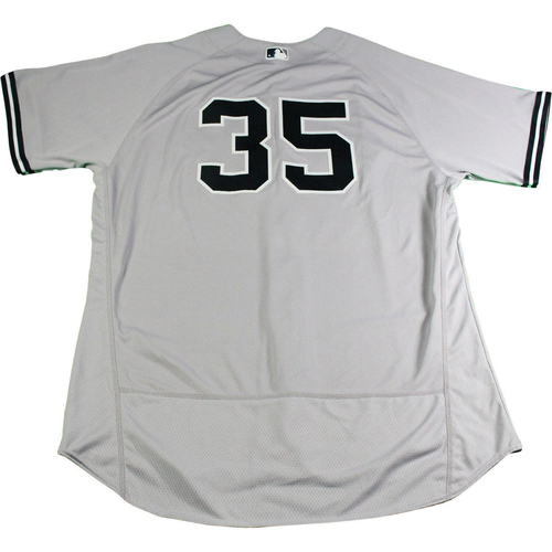 Photo of Michael Pineda New York Yankees 2017 Opening Day Game-Used #35 Road Jersey (4/2/2017). Jersey Size - 52