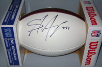 PANTHERS - SHAQ THOMPSON SIGNED PANEL BALL