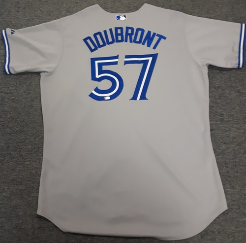 Photo of Authenticated Game Used Jersey - #57 Felix Doubront (July 7, 2015). Doubront was the Winning Pitcher and went 6.2 IP with 6 Hits, 1 ER, 1 Walk, and 6 Ks. Size 50