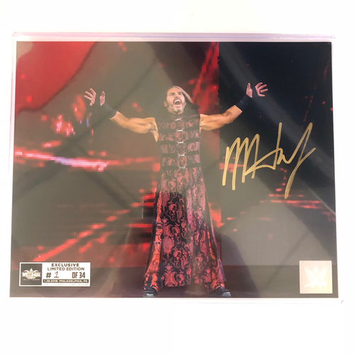 Photo of Matt Hardy SIGNED 8 x 10 Limited Edition WrestleMania Photo (#1 of 34)