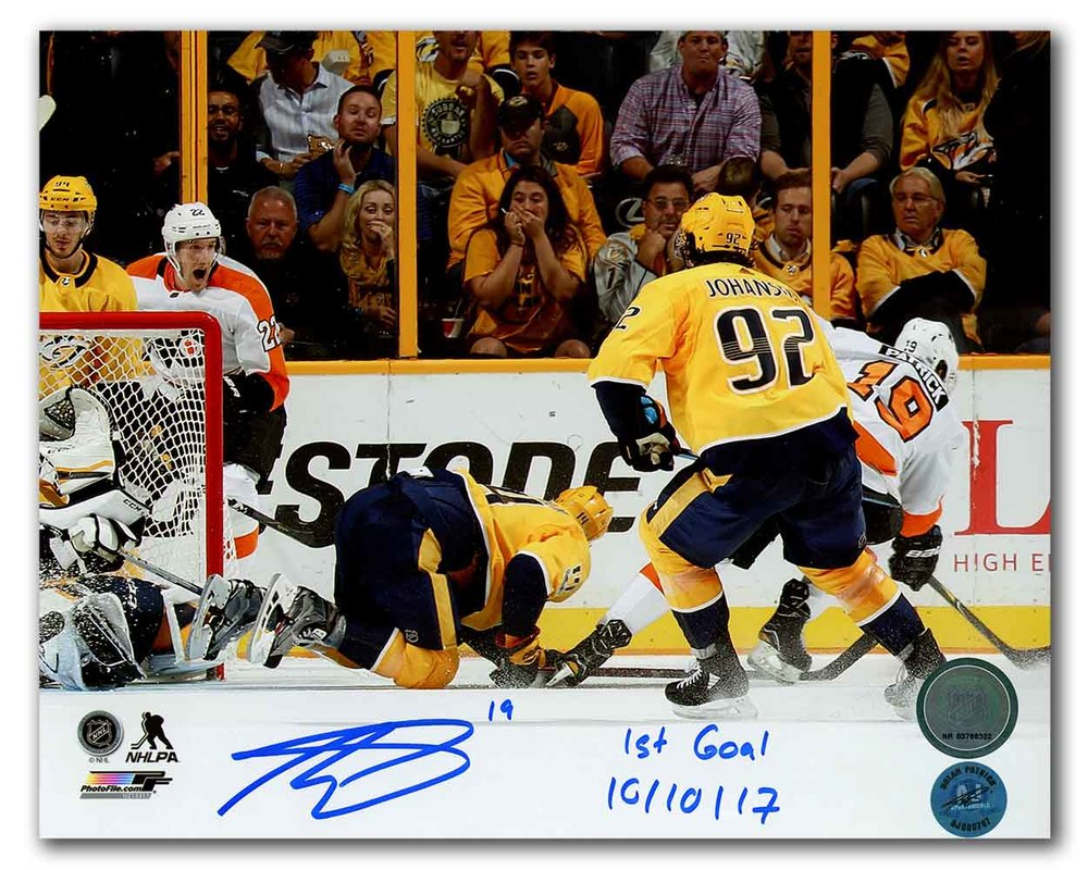 Nolan Patrick Philadelphia Flyers Signed & Dated 1st NHL Goal 8x10 Photo