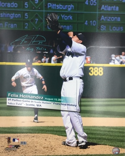 "Photo of Felix Hernandez ""King Felix"" Autographed 16x20"
