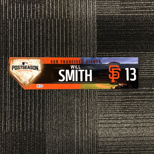 Photo of San Francisco Giants - 2016 Post Season Game Used Locker Tag - Will Smith