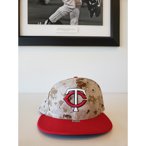Photo of 2014 Joe Mauer Game-Used Memorial Day Hat