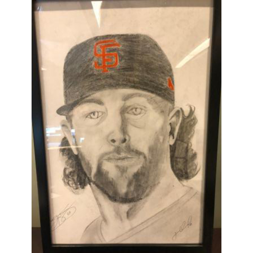 Photo of Giants Community Fund: Hunter Strickland Autographed Sketch by Jose Alguacil