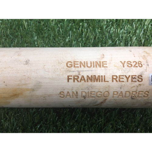 Photo of Franmil Reyes Game-Used Broken Bat VS. Phillies - 8/12/18