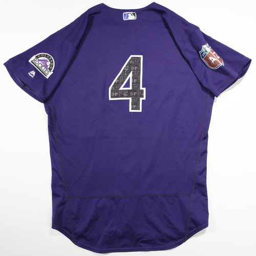 Photo of 2016  Spring Training -  Game-Used Jersey - Nick Hundley (Rockies) - Size 46