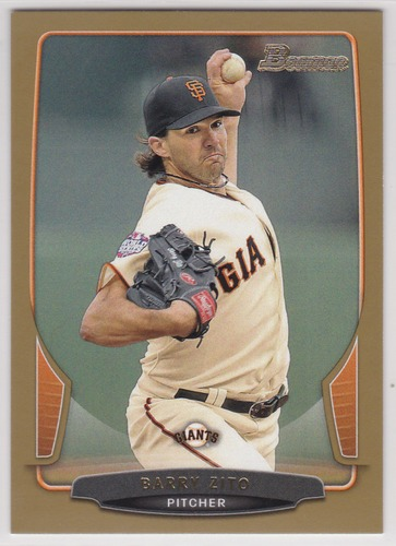 Photo of 2013 Bowman Gold #119 Barry Zito