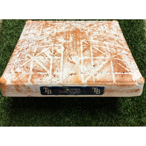 Photo of Game Used Second Base - Matt Olson & Khris Davis back-to-back Home Run's, Kevin Kiermaier Stolen Base - June 11, 2019 v OAK
