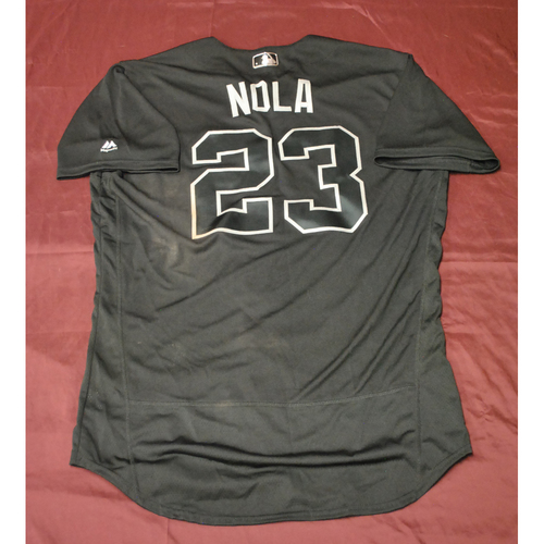 "Photo of Austin ""NOLA"" Nola Seattle Mariners Game-Used 2019 Players' Weekend Jersey"
