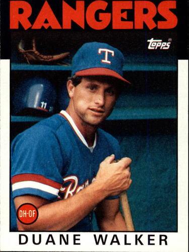 Photo of 1986 Topps #22 Duane Walker