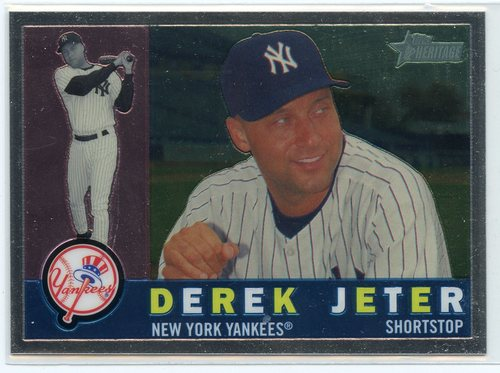 Photo of 2009 Topps Heritage Chrome #C14 Derek Jeter